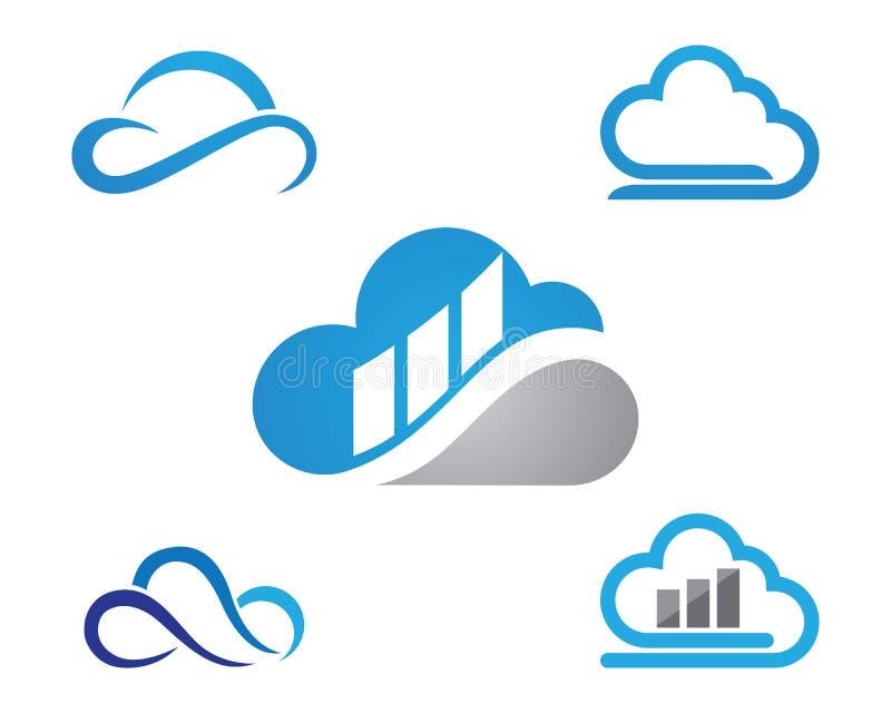 Cloud Logo Template. Vector icon stock illustration