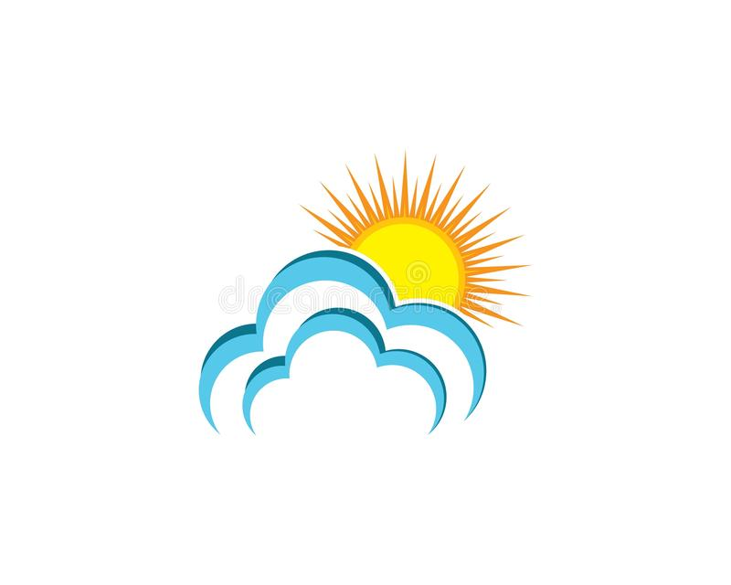 Cloud logo vector icon illustration stock illustration