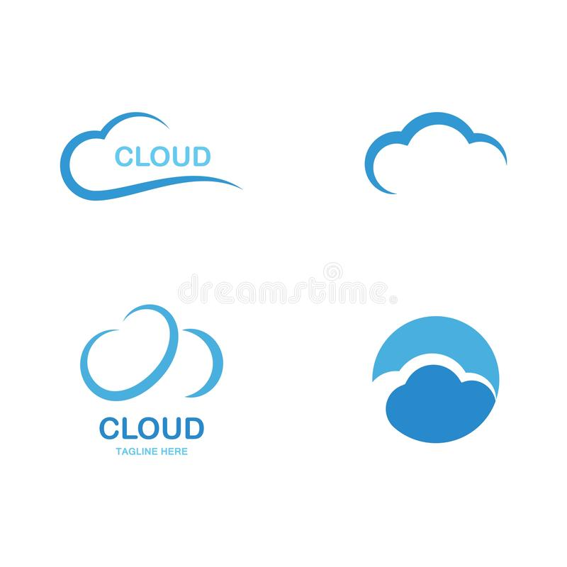 cloud logo vector stock illustration