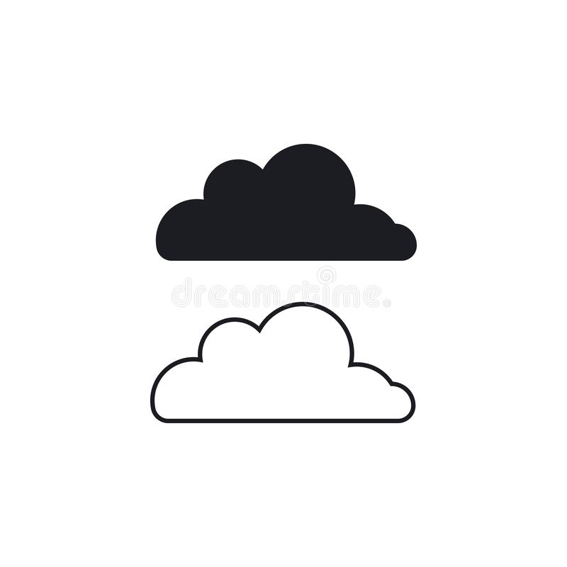 Cloud technology logo vector. Cloud  logo vector template design, business, icon, web, abstract, modern, illustration, circle, symbol, element, shape, technology vector illustration