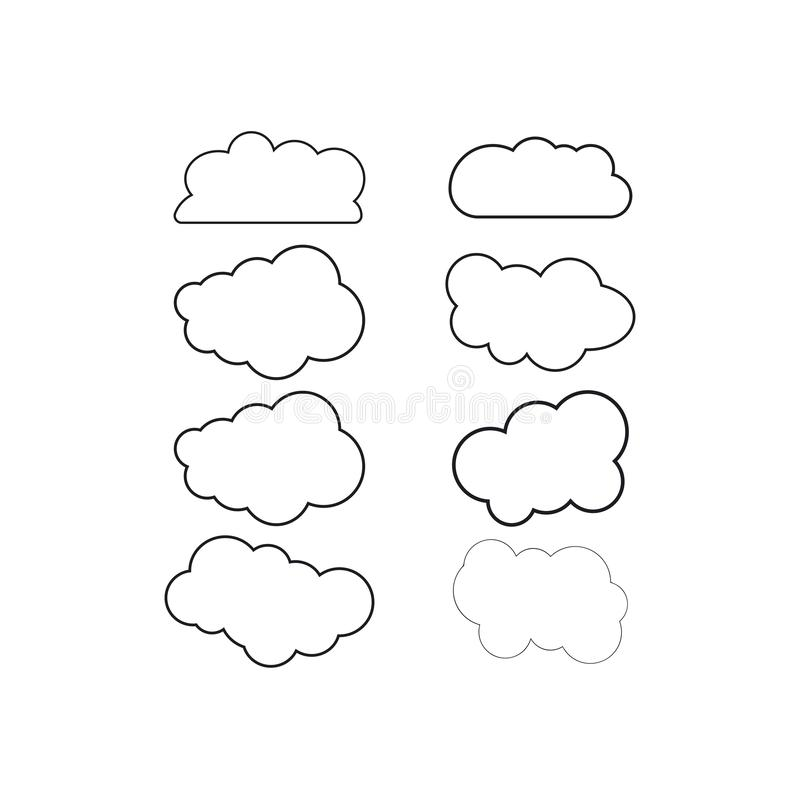 Cloud technology logo vector. Cloud  logo vector template design, business, icon, web, abstract, modern, illustration, circle, symbol, element, shape, technology royalty free illustration