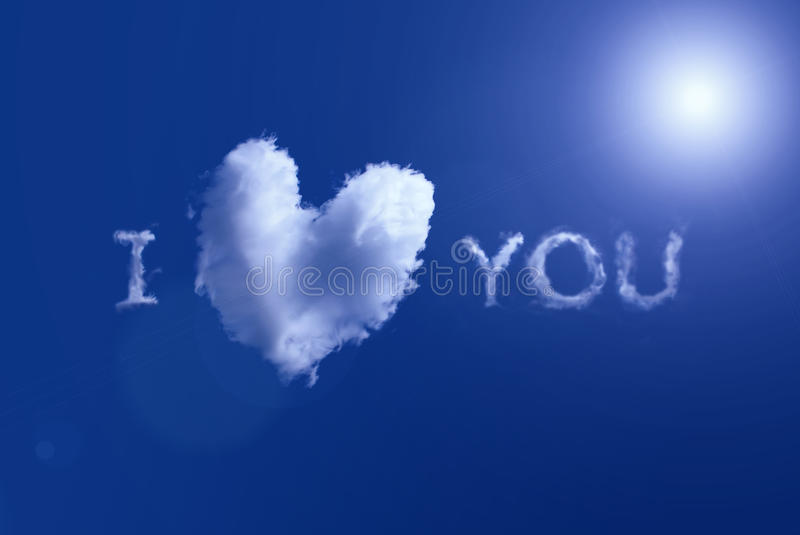 Cloud look like heart in the sky royalty free stock photos