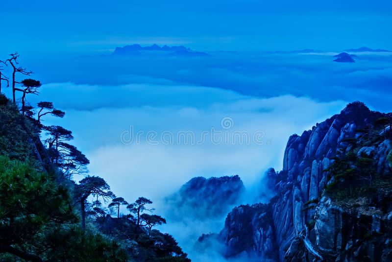 The cloud and mist of Sanqingshan mountain royalty free stock images