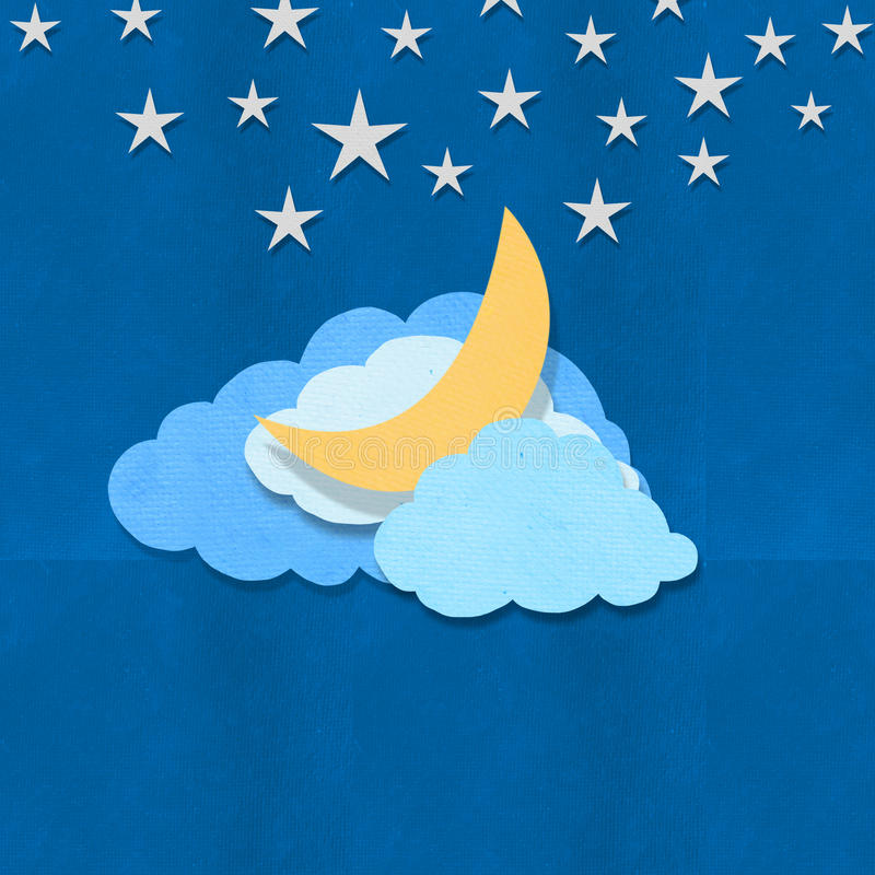 Cloud moon and stars design royalty free illustration