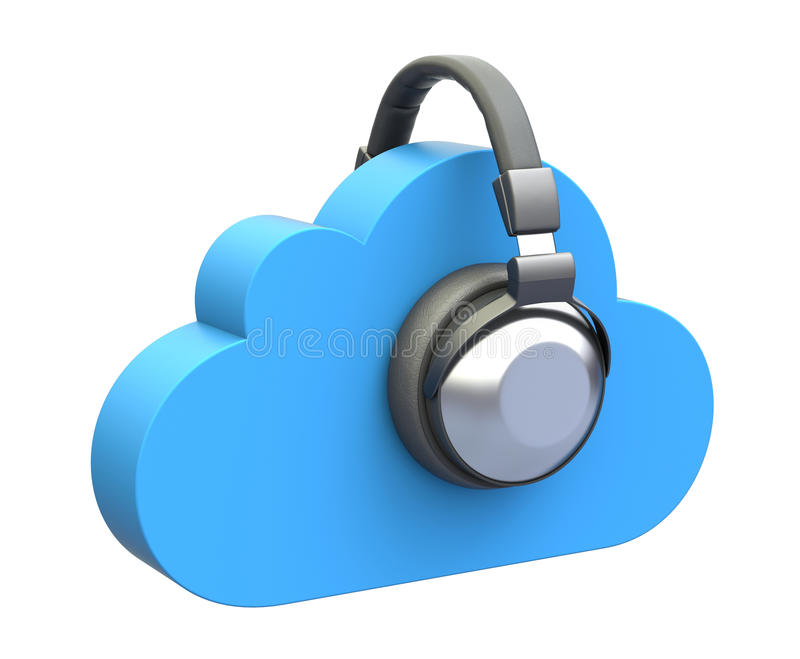 Cloud music concept stock illustration
