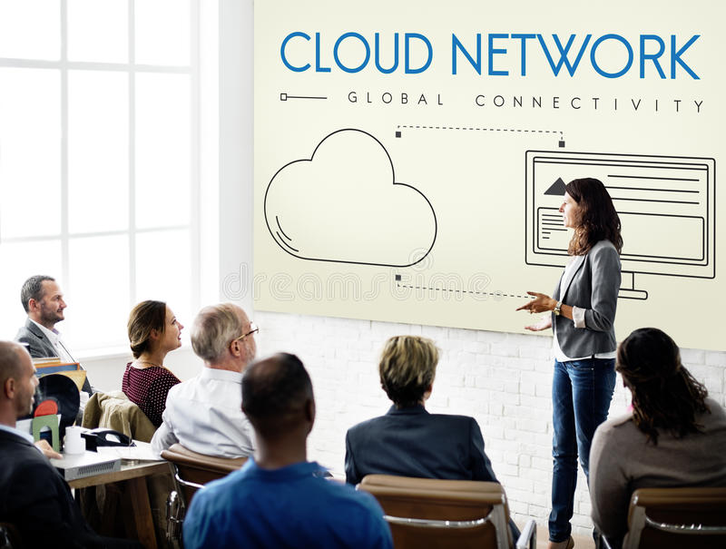 Cloud Network Global Connectivity Share Concept royalty free stock images