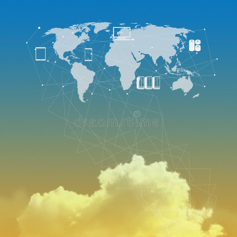 Cloud network idea concept. Cloud network idea as concept vector illustration
