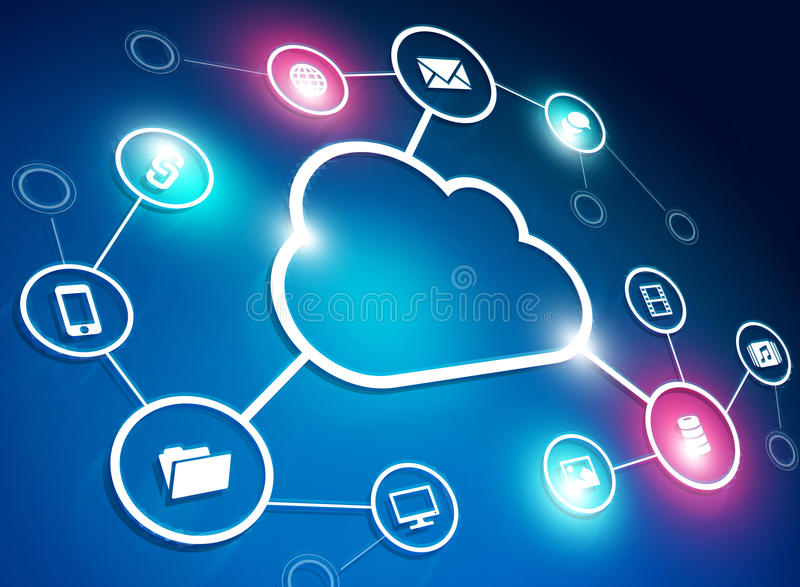 Cloud Network stock illustration