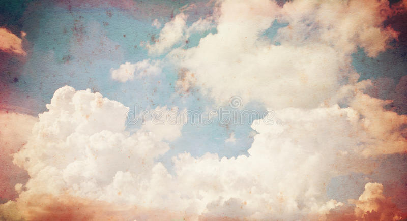 Cloud old paper grunge background. royalty free stock images