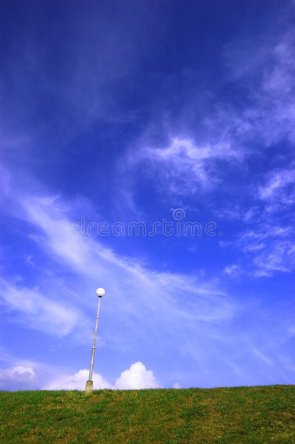 Cloud over hill. A cloud float over the hill royalty free stock photography