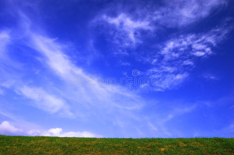 Cloud over hill. A cloud float over the hill royalty free stock images