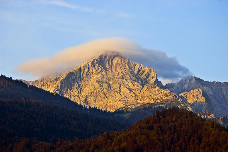 Cloud over Zugspitze royalty free stock images