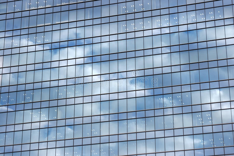 Cloud pattern reflections on modern building