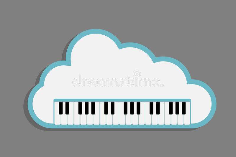 Cloud Piano keys royalty free illustration