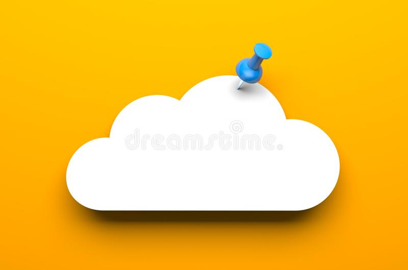 Download Cloud with pin stock illustration. Image of graphic, cloud - 31049998