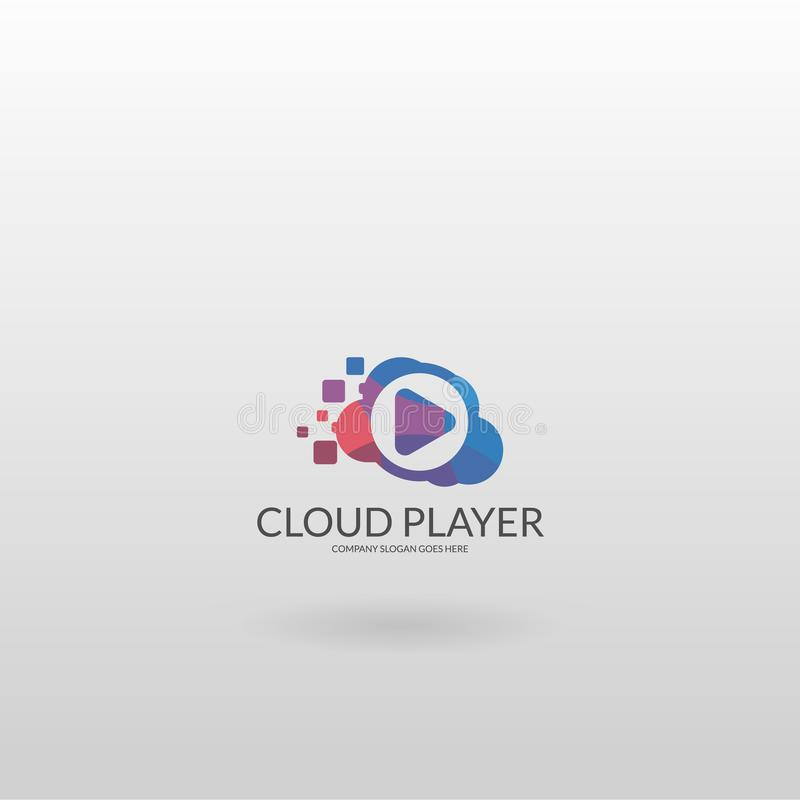 Cloud Player Plantilla multicolora del logotipo del jugador libre illustration