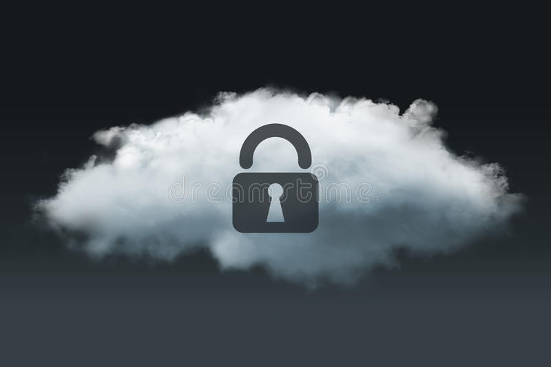 Cloud privacy royalty free stock photo