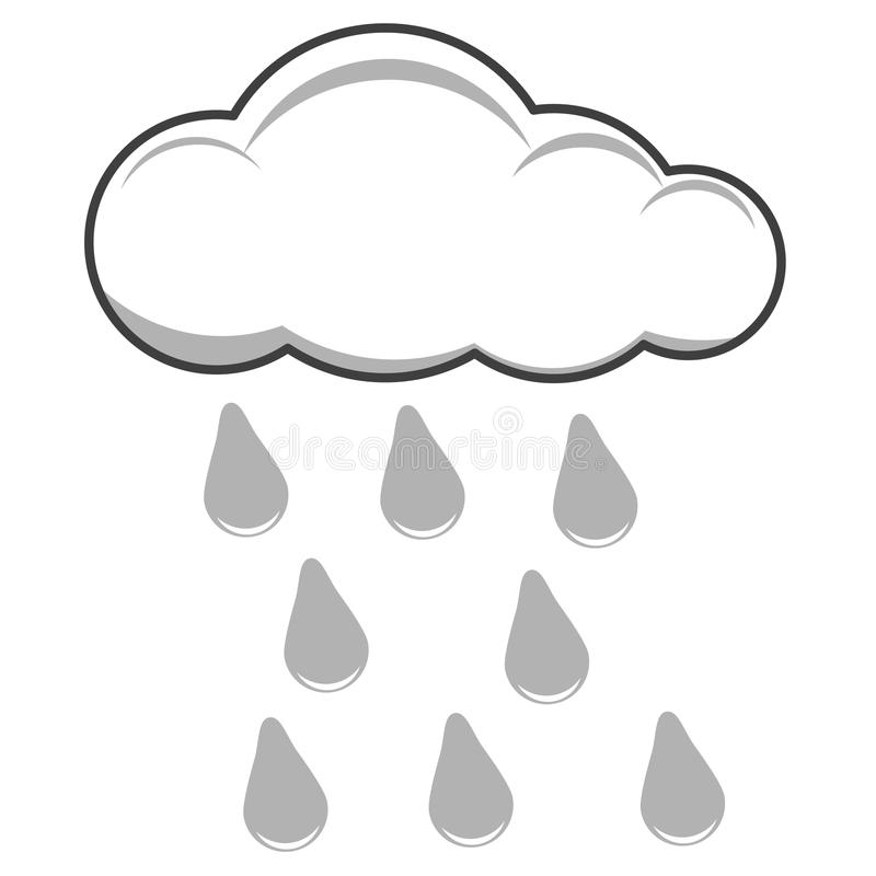 Cloud and rain royalty free illustration