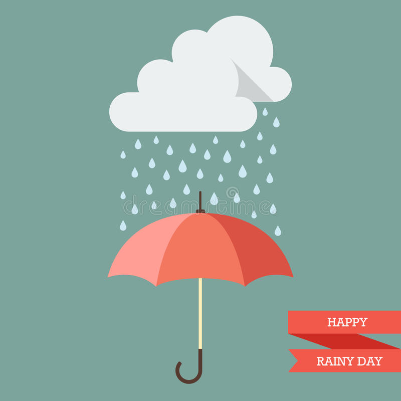 Download Cloud With Rain Drop On Umbrella Stock Vector - Illustration of nature, climate: 74169158