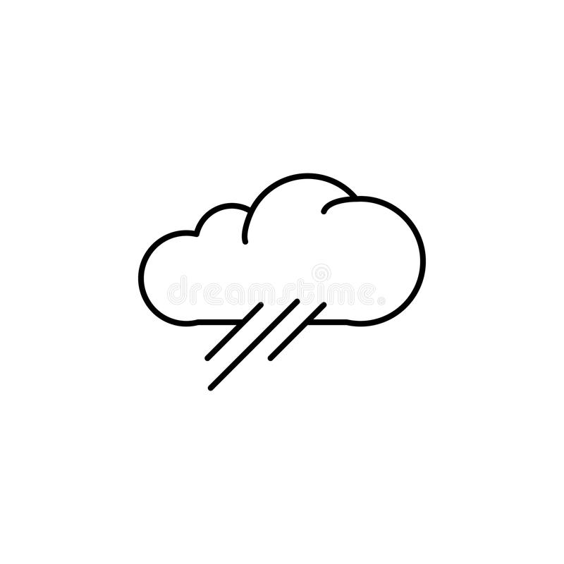 cloud with rain icon. Element of simple icon for websites, web design, mobile app, info graphics. Thin line icon for website desig vector illustration