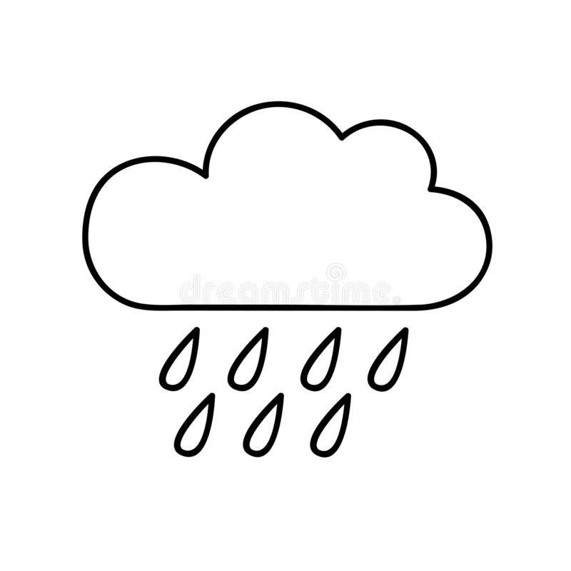 cloud outline stock illustration illustration of isolated