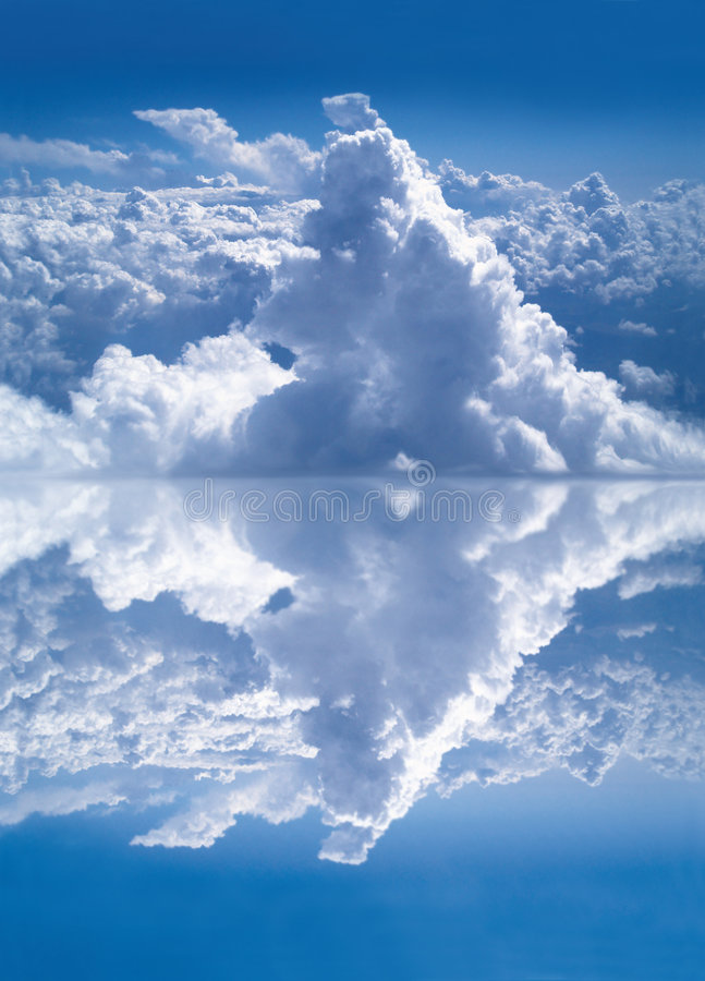 Cloud reflection stock photography