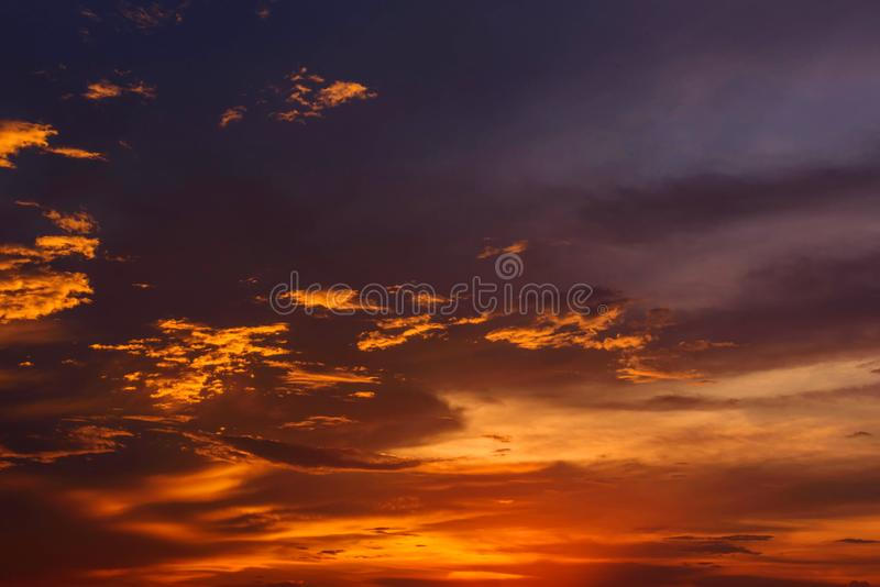 Cloud with refract of  sunlight in evening time. / cloud storm in sunset time royalty free stock photos