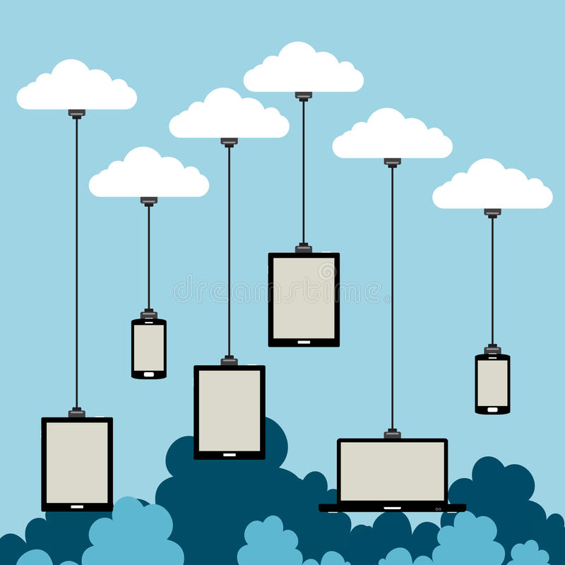 Download Cloud Riders stock vector. Illustration of smartphone - 29430423