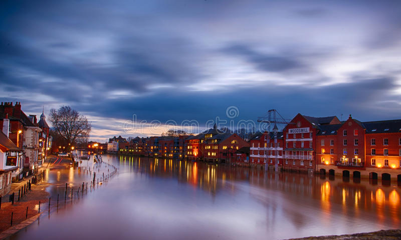 Cloud & river of river ouse stock photo
