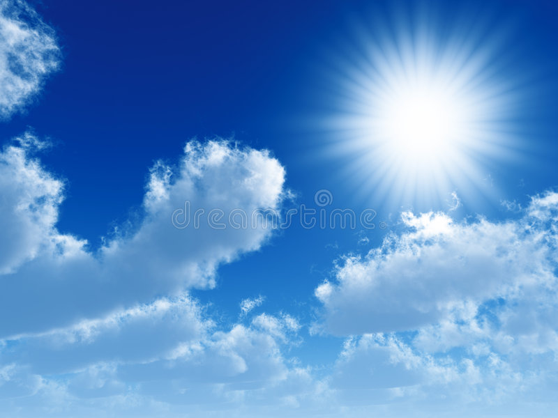 cloud słońce fotografia royalty free