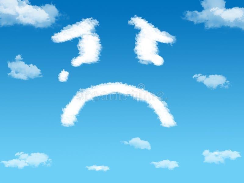 Cloud sad royalty free stock photos
