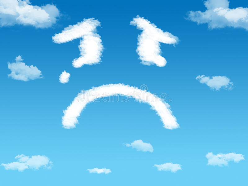 Download Cloud sad stock photo. Image of computer, blue, creativity - 18255958
