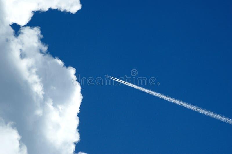 cloud samolot fotografia royalty free