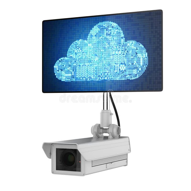 Cloud security concept vector illustration