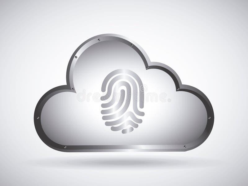 Cloud security vector illustration