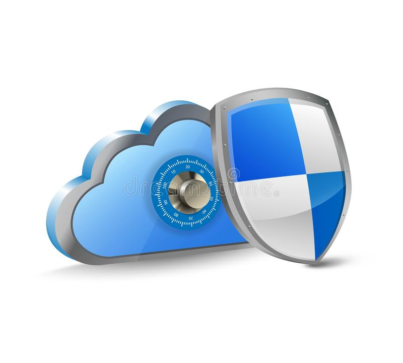 Cloud And Security Shield Stock Photos