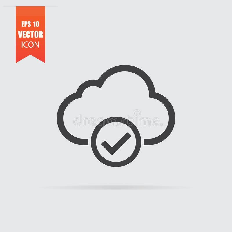 Cloud select icon in flat style isolated on grey background. For your design, logo. Vector illustration vector illustration