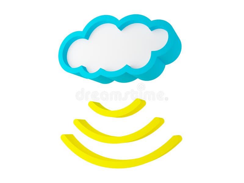 Download Cloud sending data stock illustration. Illustration of multimedia - 22828856