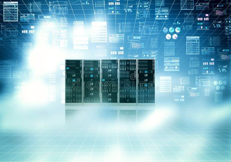 Cloud server concept stock images