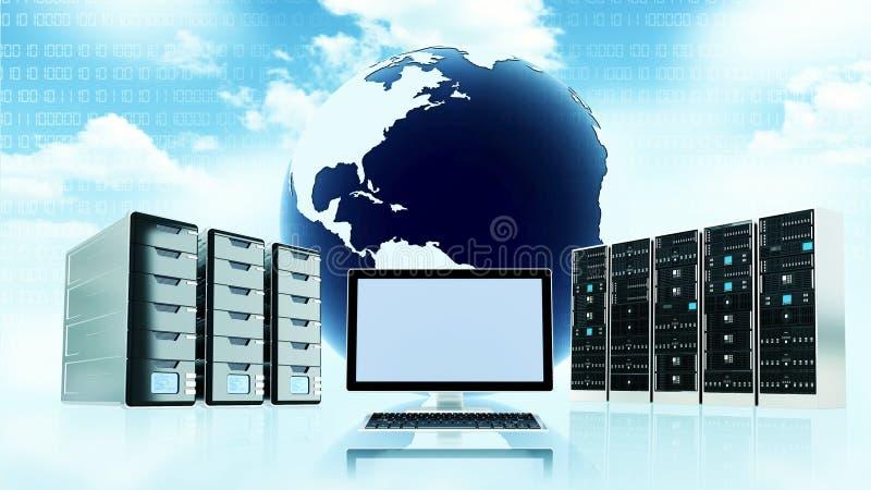 Cloud server concept royalty free illustration