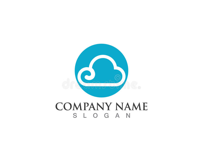Cloud server data logo and symbols stock illustration