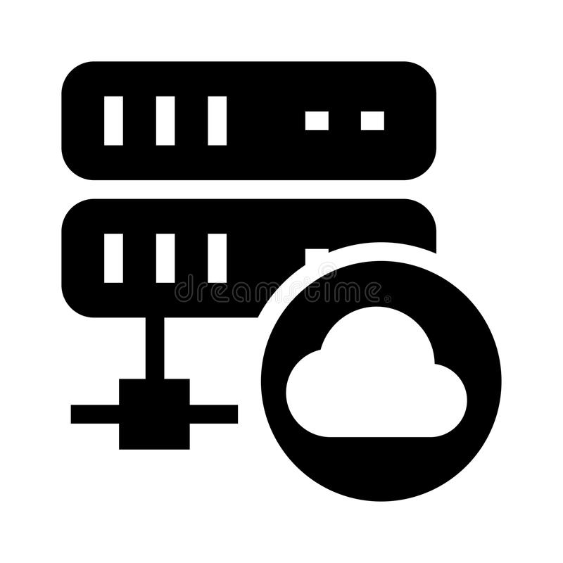 Cloud Server glyphs icon. Cloud Server Vector glyphs Icon. Elements for mobile concept and web apps. Thin line icons for website design and development, app stock illustration