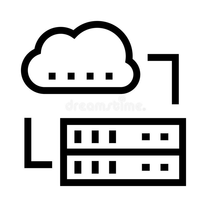 Cloud Server vector glyphs icon. Elements for mobile concept and web apps. Thin line icons for website design and development, app development. Premium pack vector illustration