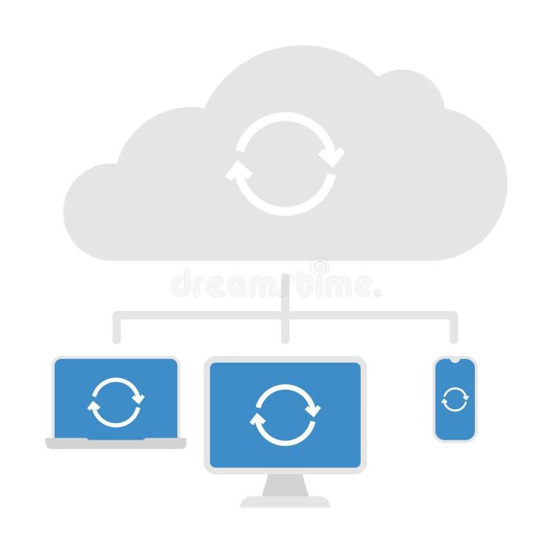 Cloud Server Vector Icon vector illustration