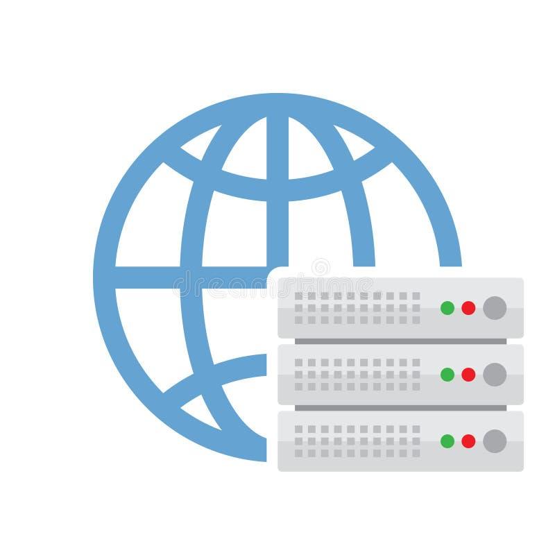 Cloud Server Vector Icon stock illustration