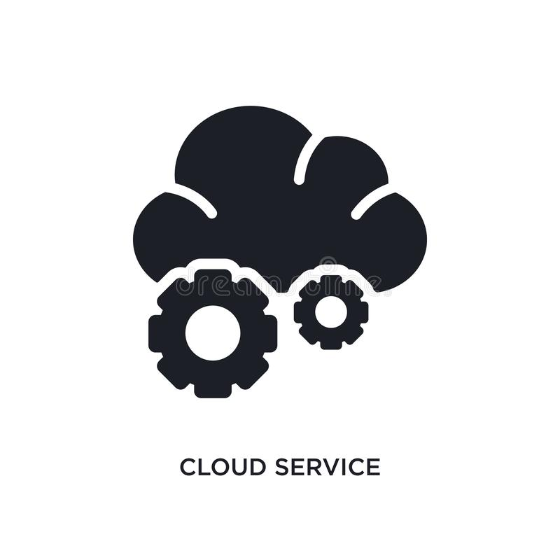 Cloud service isolated icon. simple element illustration from general-1 concept icons. cloud service editable logo sign symbol. Design on white background. can stock illustration
