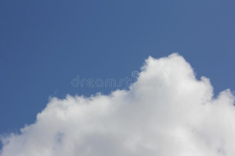 Cloud Shapes on Blue Sky, Abstract Clouds shapes with Blue Sky Background. Cloud shapes with blue sky background, great for shapes and textures for graphic stock photos