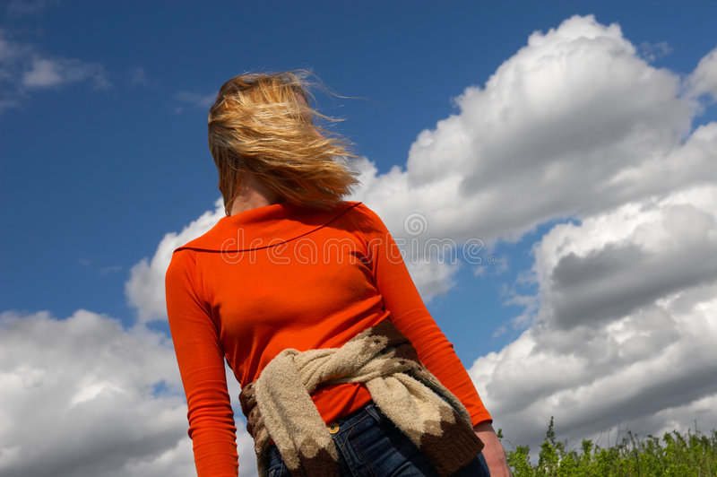 cloud sibir błękit nieba kobiety zdjęcia royalty free