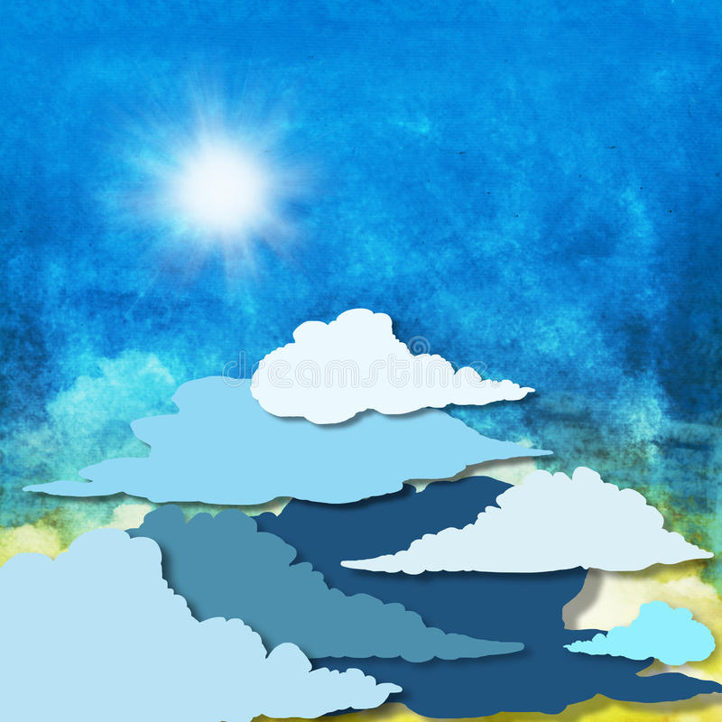 Cloud and sky stock illustration