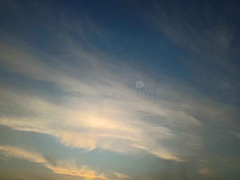 Cloud in the sky beautiful red and orange royalty free stock photography